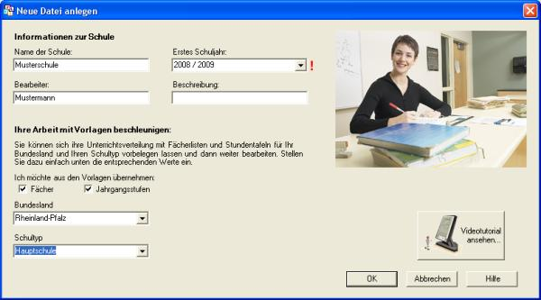 Screenshot: neue Datei